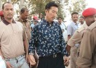 Blasts accused Sabin Boro (left) and Tenzing Zangpo being produced in a Guwahati court