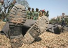 Bodies of Bangladesh Rifles officers laid out