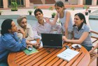 Students at Indian School of Business, Hyderabad
