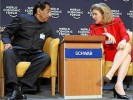 Kamal Nath with Susan Schwab of the US at an earlier meeting in Davos