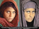 Eyes say it all: Age hasn't made her looks less intense. Sharbat Gula—1984 & 2002.